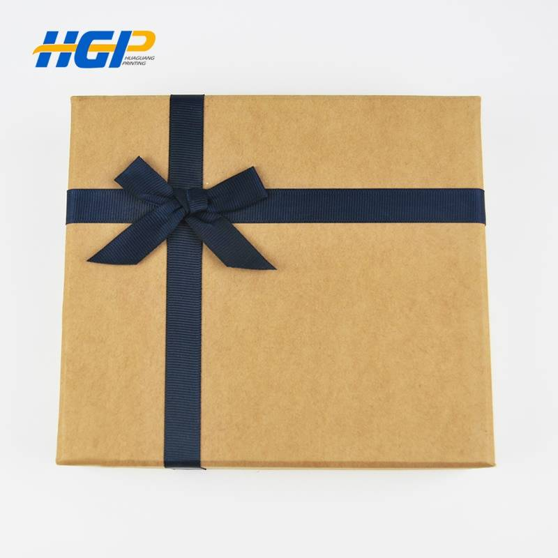 China Wholesale Sticker Printing Suppliers - Customized Logo Printed Wholesale Cardboard  Gift Boxes With Ribbon – Huaguang