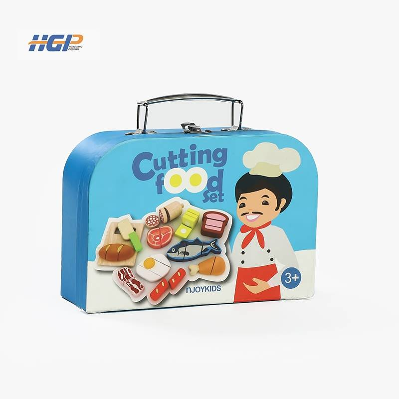 China Wholesale Customized Bumper Stickers Suppliers - Toy box for children cardboard paper suitcase with handle – Huaguang