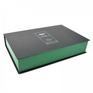 Skin care paper box is insert with PVC book typ...