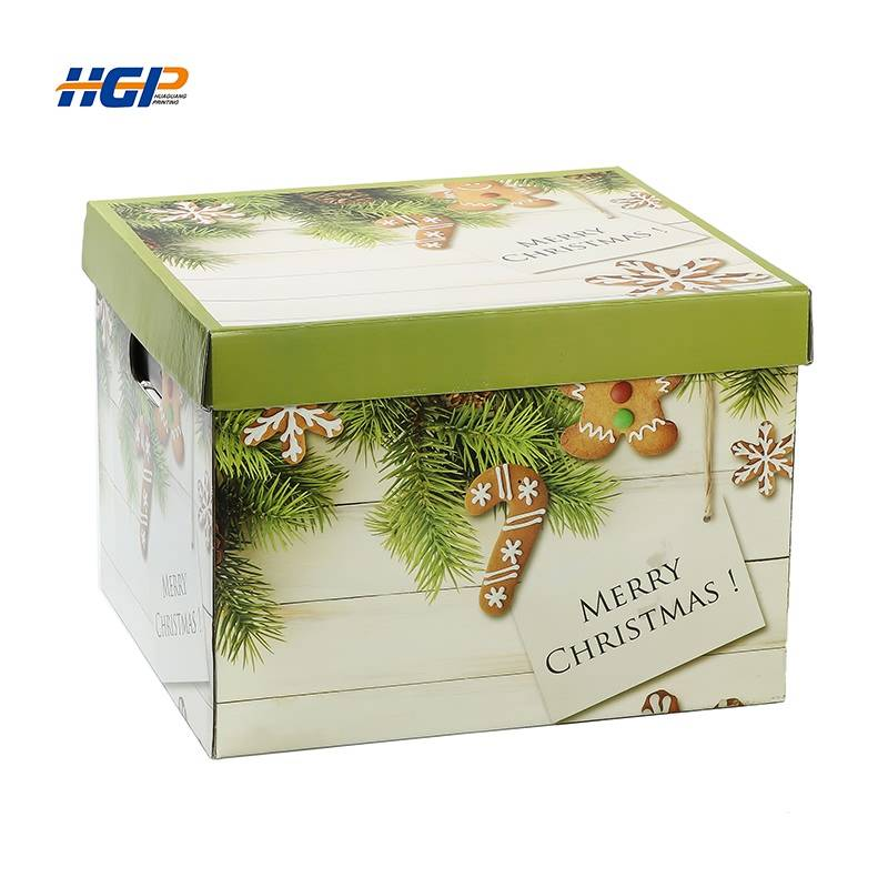 China Wholesale Paper Storage Bags Suppliers - lid off corrugated home storage box socks compartment paper box – Huaguang
