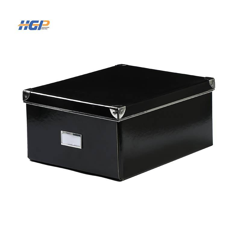 China Wholesale White Plastic Storage Box Manufacturers - Office or home paper storage box with large capacity can be folded – Huaguang