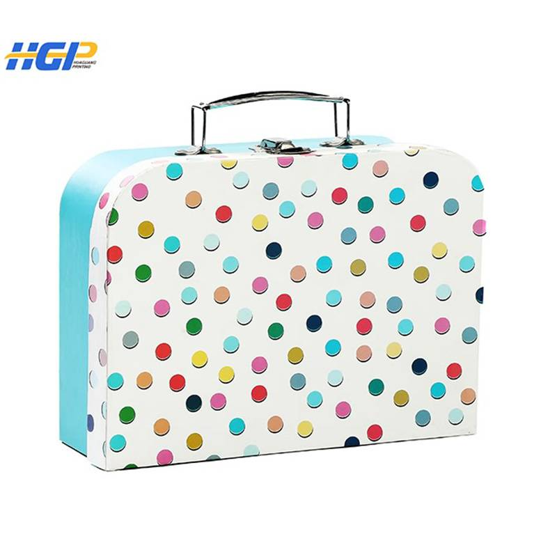 China Wholesale Customized Bumper Stickers Suppliers - Toy box for children cardboard paper suitcase with handle – Huaguang Featured Image