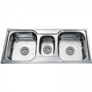 Discount Price Kitchen Sink Faucet - Double bowls without Panel DE10548B – Jiawang