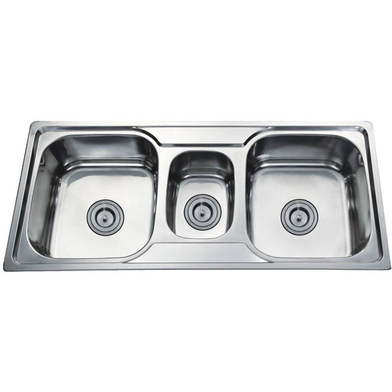 Kitchen Sink - Double bowls without Panel DE10548B – Jiawang