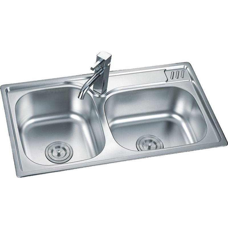 Top Quality High Technology Stainless Steel Kitchen Sink - Double Bowls Without Panel DE8046 – Jiawang