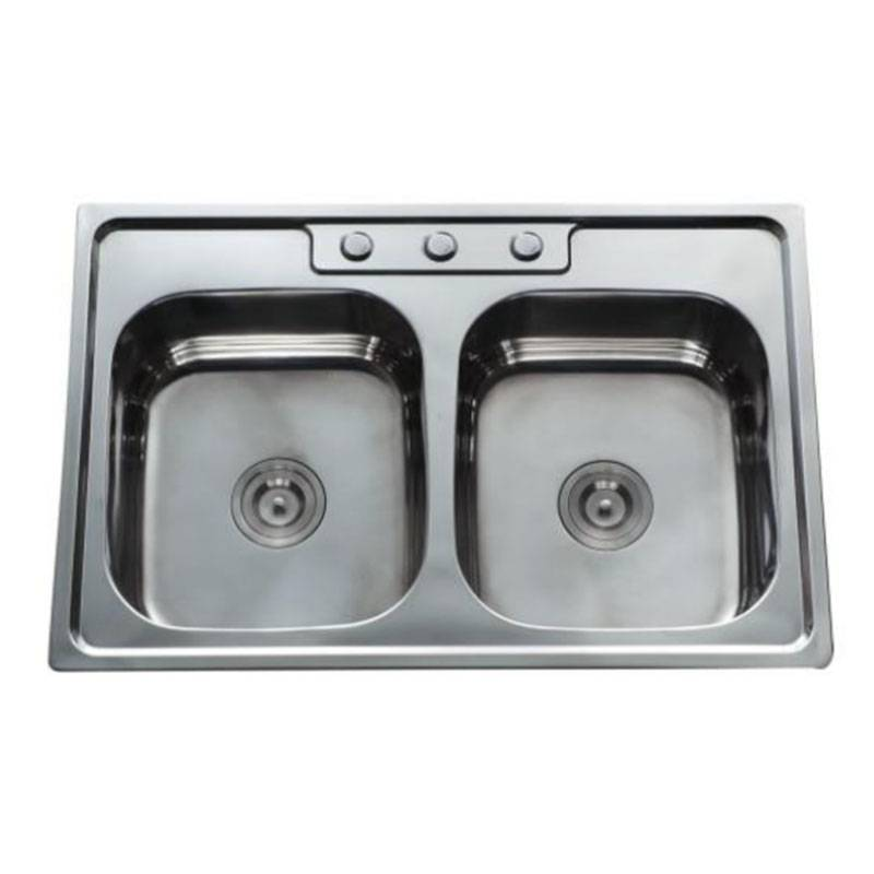 Factory wholesale Sinks - Double Bowls without Panel DE8456C – Jiawang