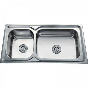 18 Years Factory Double Bowl Kitchen Sink - Double Bowls Without Panel DE9550A – Jiawang