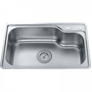 Factory Outlets 304 Stainless Steel Kitchen Sink - Single Bowl without Panel GE7546 – Jiawang