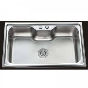 High Technology Stainless Steel Kitchen Sink - Single Bowl without Panel GE8048 – Jiawang