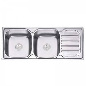 2020 Latest Design Wash Kitchen Equipment - Double Bowls With Panel JW11048 – Jiawang