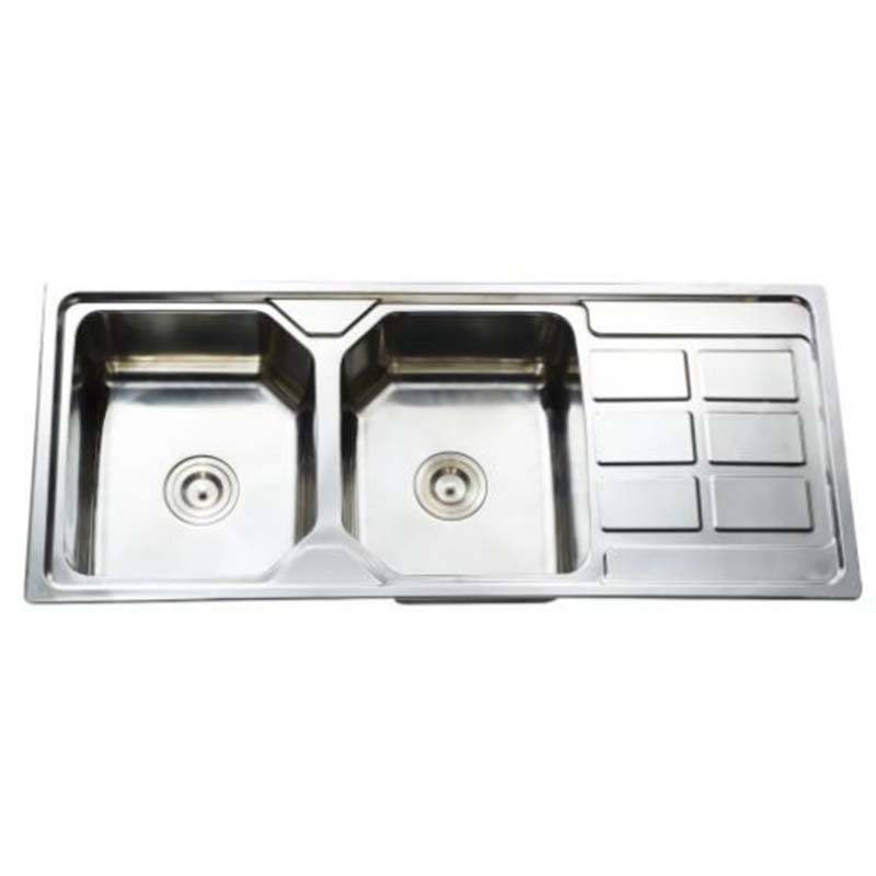 Domestic Kitchen - Double Bowls With Panel KS11650 – Jiawang