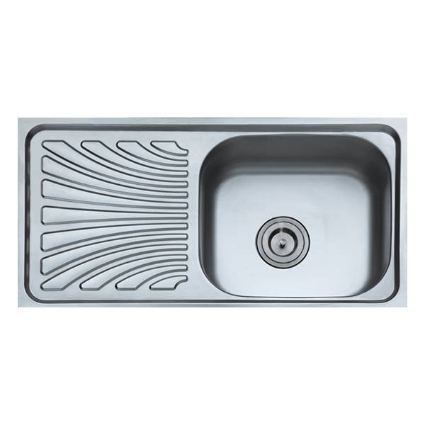 Good Quality Kitchen Accessories - Single Bowl Sink With Pannel 9643 – Jiawang