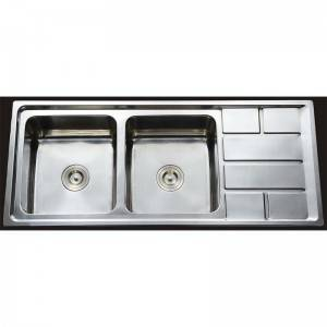 China Factory for Restaurant Kitchen Sink - Double Bowls With Panel RS11650 – Jiawang