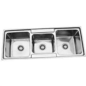 2020 Latest Design Wash Kitchen Equipment - Double Bowls With Panel RS11648 – Jiawang