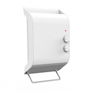 2KW Home Ceramic  PTC  Fan Heater,Wall-Mounted Heater With 2 Heat Settings,IP23 Waterproof  Heating For Bathroom,White,DF-HT5102P