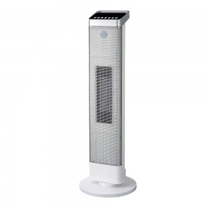 2.5KW Home Ceramic  PTC  Fan Heater, Tower Heater With ECO, 2 Heat Settings, Adjustable Thermostat , Black,220V DF-HT5315P
