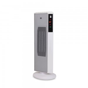 2KW Home Ceramic  PTC  Fan Heater, Tower Heater With ECO, 2 Heat Settings, Adjustable Thermostat , White/Black,220V DF-HT5320P