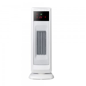 2KW Home Ceramic  PTC  Fan Heater, Tower Heater With ECO, 2 Heat Settings, Adjustable Thermostat , White/Black,220V DF-HT5312P