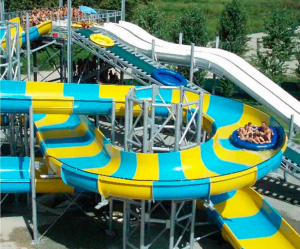 Water slides for water amusement