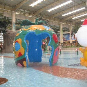 OEM/ODM Manufacturer Where To Buy Water Park Slides - Aqua Spray Play Features Apple House – GFUN
