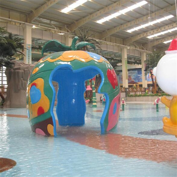China Manufacturer for Water Park Equipment Pool Slide - Aqua Spray Play Features Apple House – GFUN