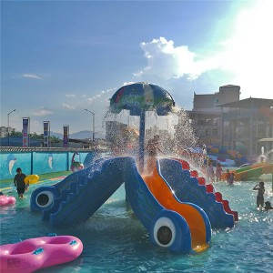 Fiberglass Water Octopus slide Toys For Water Park