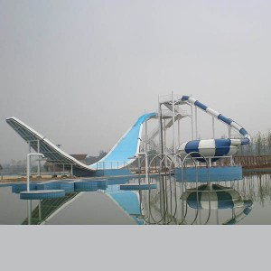 China wholesale Water Park Products - High quality outdoor fiberglass wave slide – GFUN