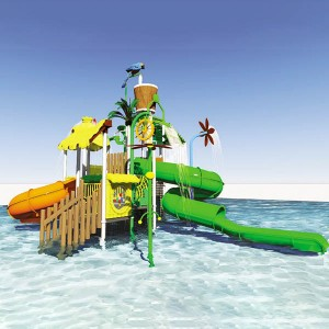 OEM Customized Aqua Park Slide - Hot sale combination water slide, fiberglass slide for sale – GFUN