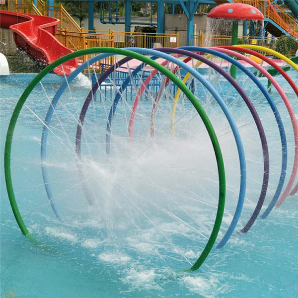Factory For Fiberglass Fountain Equipment For Swimming Pool - Hot selling of water park splash equipment rainbow ring – GFUN