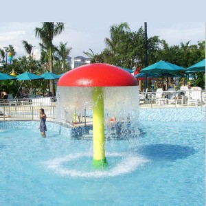 Factory making Fiberglass Mushroom For Splash Pads - Hot selling water park equipment fountain mushroom – GFUN