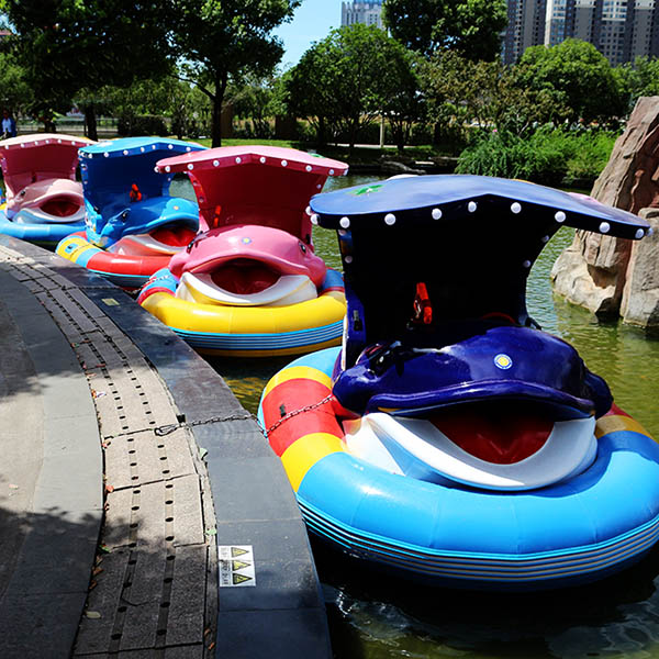 2019 New Style Kids Hand Boating - Kids favourite water play equipment laser gun inflatable bumper boat for sale – GFUN detail pictures