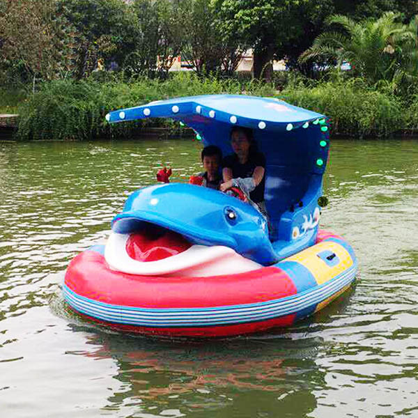 2019 New Style Kids Hand Boating - Kids favourite water play equipment laser gun inflatable bumper boat for sale – GFUN
