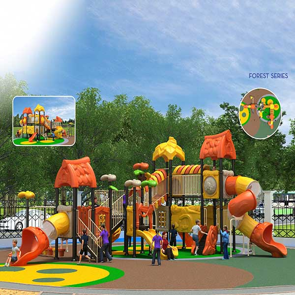 Factory selling Park Fitness Equipment - Large custom outdoor children's play equipment, plastic slide – GFUN