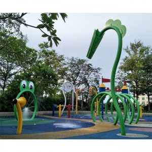 Manufactur standard Fiberglass Water Slide Tubes - Water park splash pad equipment – GFUN