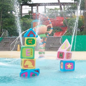 Low price water park toys for sale Water spray building blocks