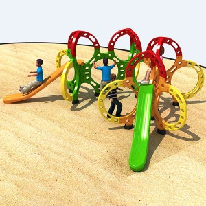 Good Quality Outdoor Fitness Equipment Suppliers - Outdoor play equipment Colorful Circle Physical Fitness Playground – GFUN