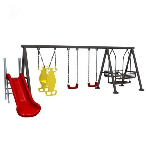 OEM/ODM Manufacturer Childrens Playground Equipment - Popular children's outdoor playground equipment swing sets – GFUN