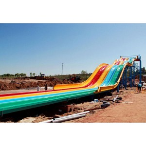 Professional Design Latest Design Plastic Water Playground - Water park Racing Rainbow Water Slide – GFUN