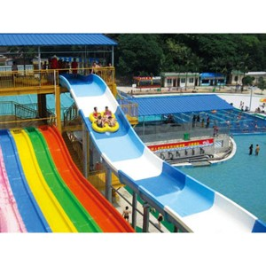 Reasonable price Water Slide Into Pool - Water park family spiral water slide – GFUN