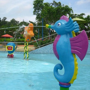 Water park play equipment