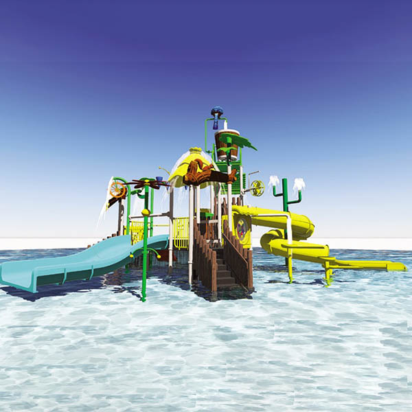 Bottom price Family Water Slide - Water park slide equipment, home water play equipment – GFUN