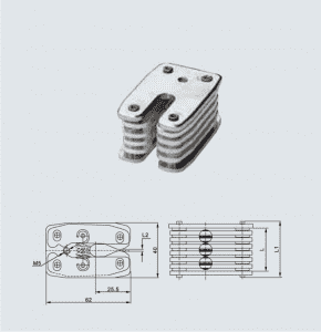 HCB001 GC3-400A earthing small contact, 8 sheets