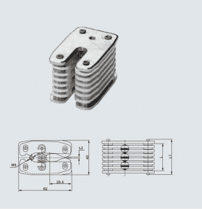 HCB002 GC3-630A earthing small contact,12 sheets