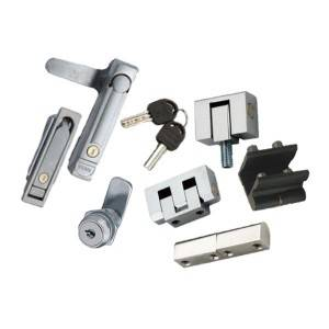 lock and hinge for switchgear