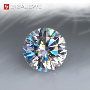 Hot sale 2mm Moissanite Loose Stones - D Color 1-3ct VVS1 Round Moissanite – Jujia