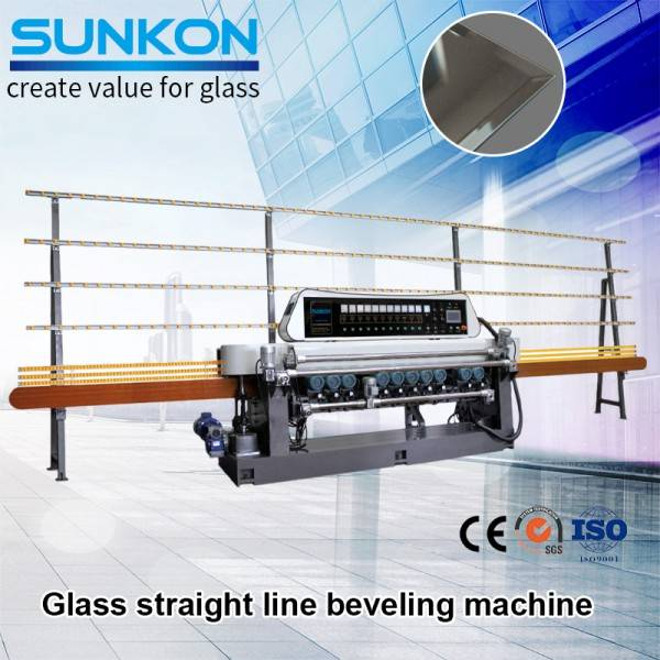 CGX371 glass straight-line Beveling machine with PLC control