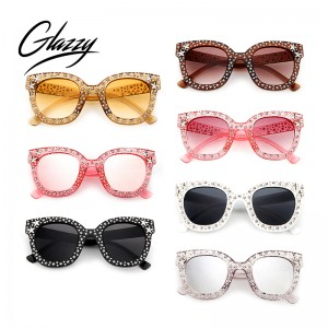 New Classical Cateye Diamond Sunglasses Women 2020 Luxury Women Crystal Sunglasses Eyewear Uv400