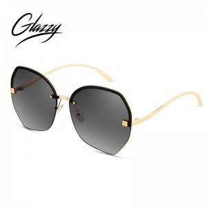 2021New Arrivals High-Quality New Design Trendy Fashion Hidden Metal Frame Pilot Mirror Sunglasses For women