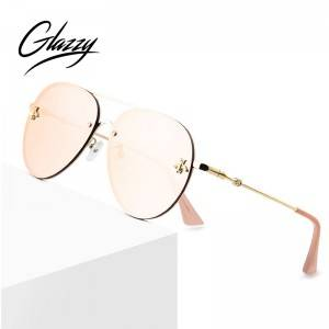 2020 Pilot Mirror Sunglasses Women Luxury Vintage Outdoor Driving Rimless Sun Glasses