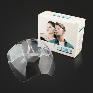 Reusable Full Face Shield Glasses, Protective Equipment Transparent Face Visor Glasses Set